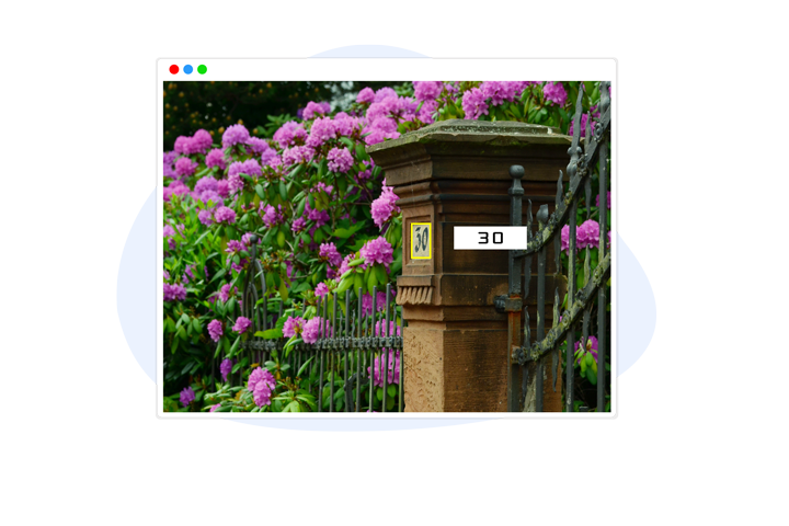 House Number Detection Image Annotation